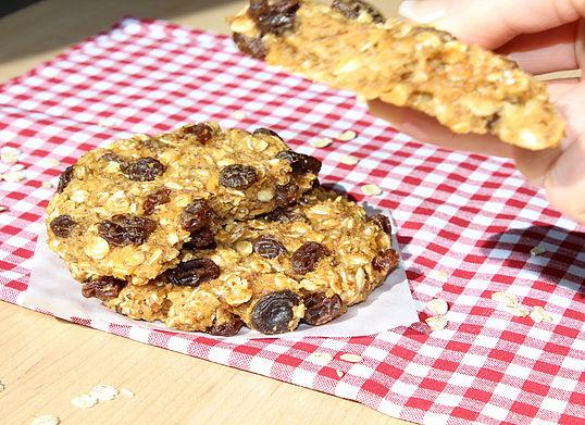 Giant Peanut Butter Oatmeal Raisin Cookies