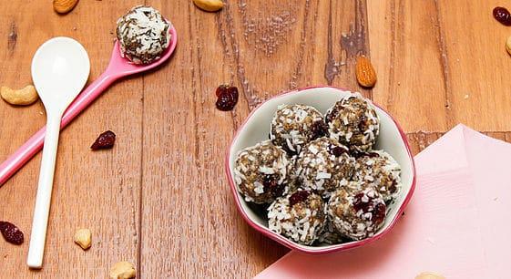 Coconut Cranberry Energy Bites