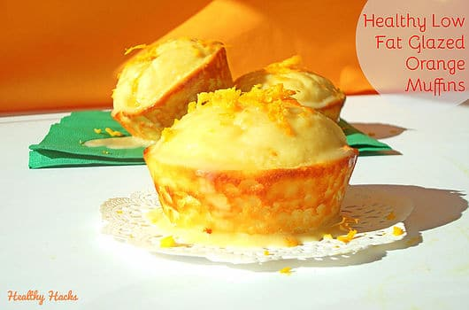 Healthy Glazed Orange Muffins