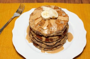Healthy Cinnamon Banana Pancakes - gluten free and refined sugar free