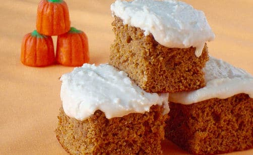 Protein Pumpkin Cake with Icing