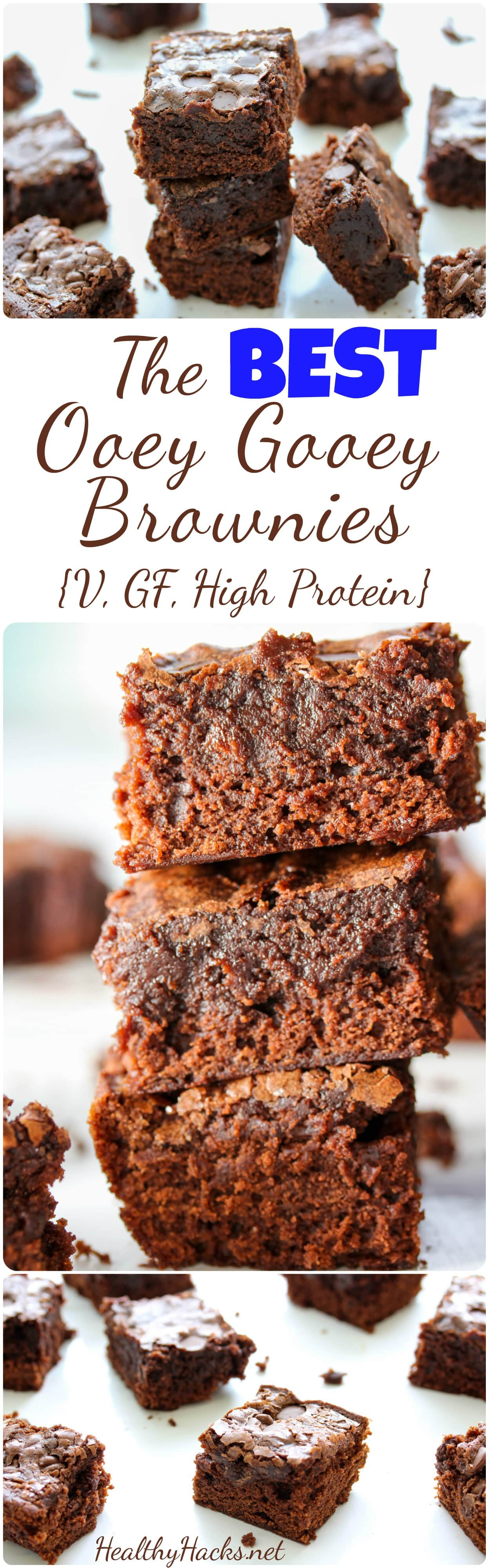 The Best ooey gooey vegan gluten free brownies