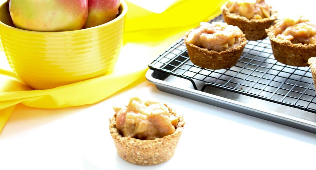 Apple Crisp Cookie Cups - gluten free, vegan, and refined sugar free