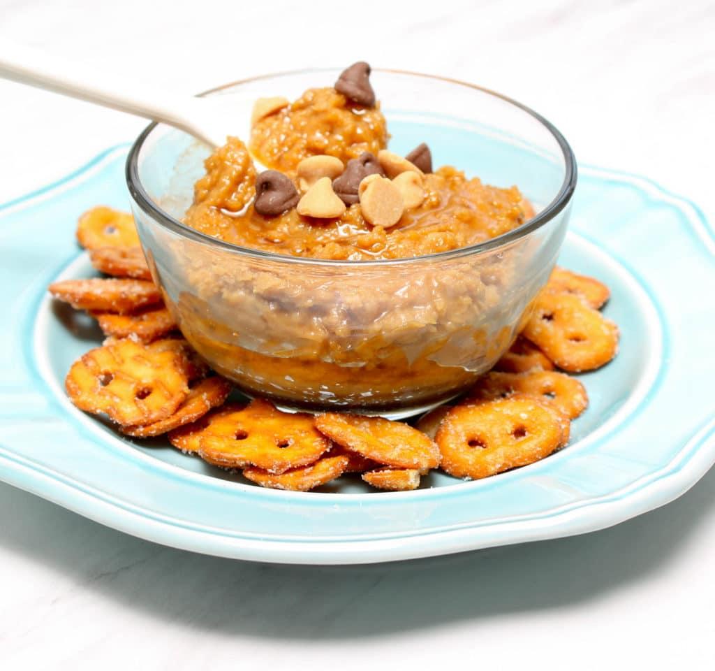 Creamy Peanut Butter Cookie Dough Dessert Hummus - GF, V