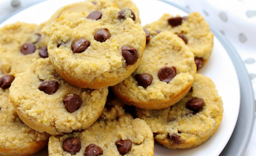 These high protein, grain free chocolate chip cookies are your post workout snack dream come true! #highprotein #postworkoutsnack #grainfree
