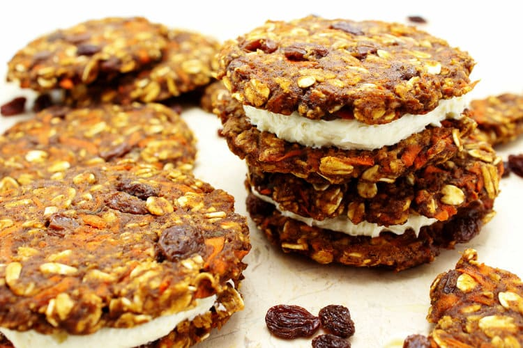 Do you love carrot cake? If so, you're going to adore these Healthy, High Protein Carrot Cake Cookies.They're refined sugar and flour free, which basically makes them the healthy version of carrot cake you always pretended you were eating! They're also vegan and gluten free.