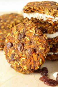 Healthy Carrot Cake Cookies