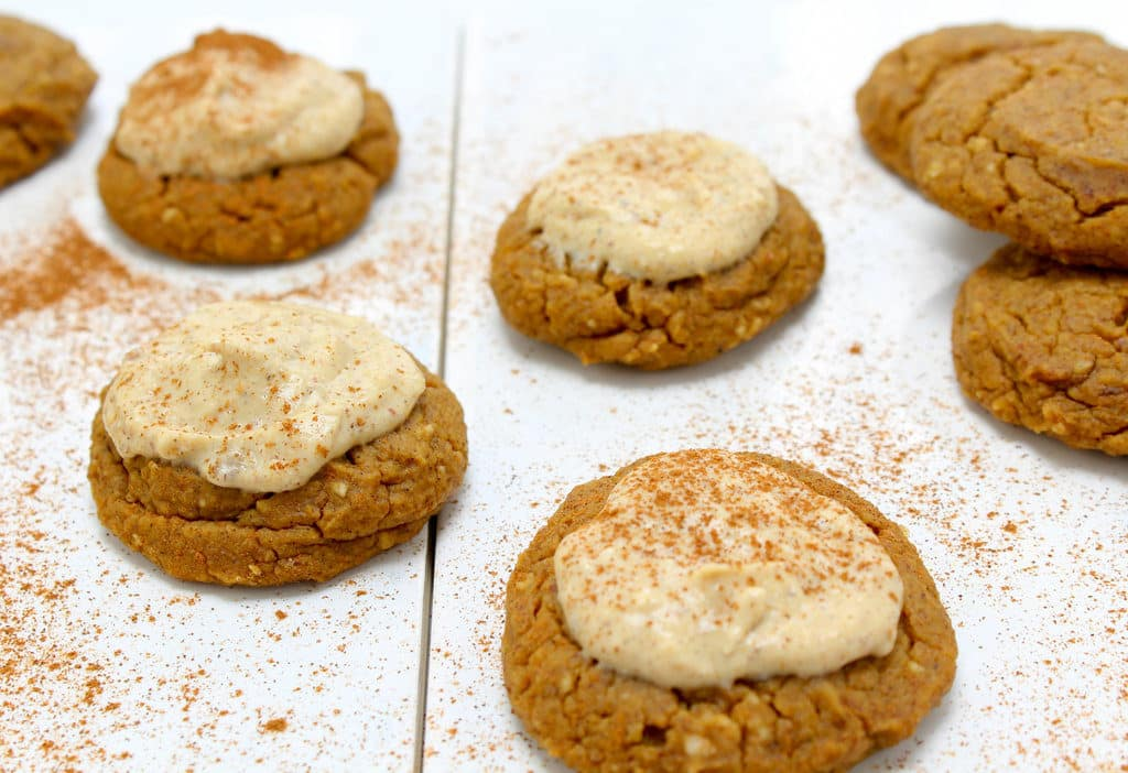 Iced Protein Pumpkin Spice Cookies