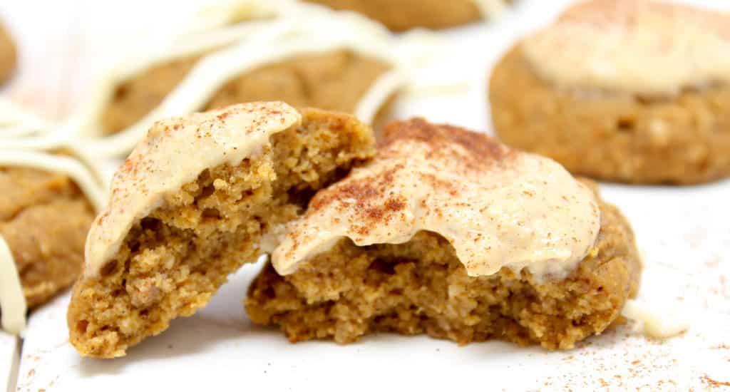 Halved Protein Pumpkin Spice Cookies