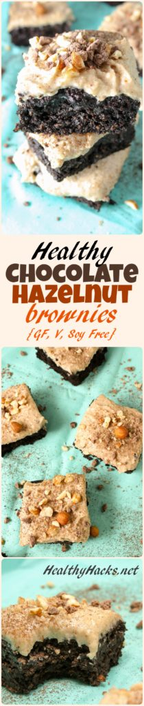 Healthy Chocolate Hazelnut Brownies