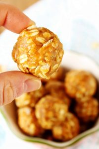 All you need is 5 minutes to make these quick, easy, and delicious crispy peanut butter balls! Perfect for an on the go snack! They're no bake, gluten free, vegan, and refined sugar free!