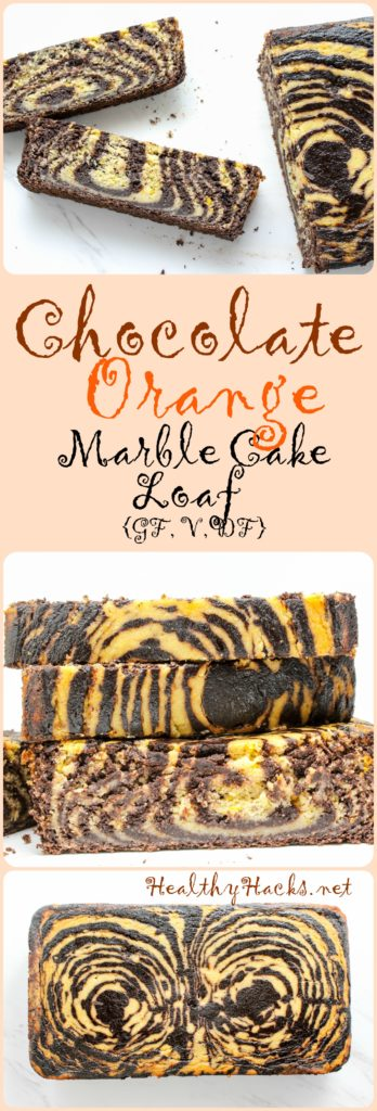 Chocolate Orange Marble Cake Loaf