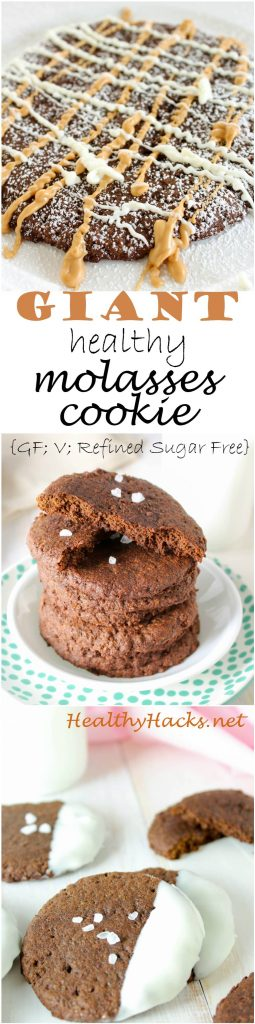 giant healthy molasses cookie