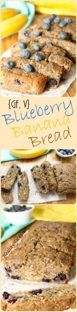 Gluten Free Vegan Blueberry Banana Bread