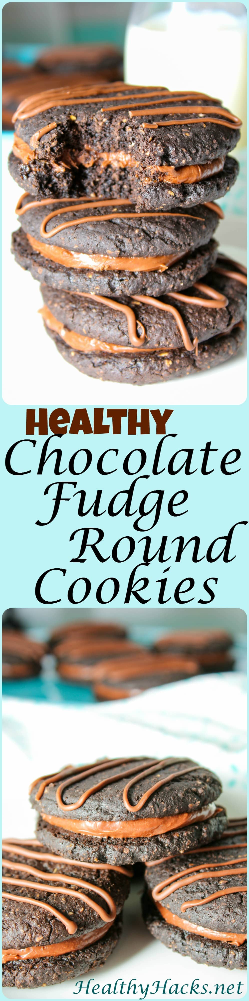 Healthy Chocolate Fudge Rounds Cookies Pinterest