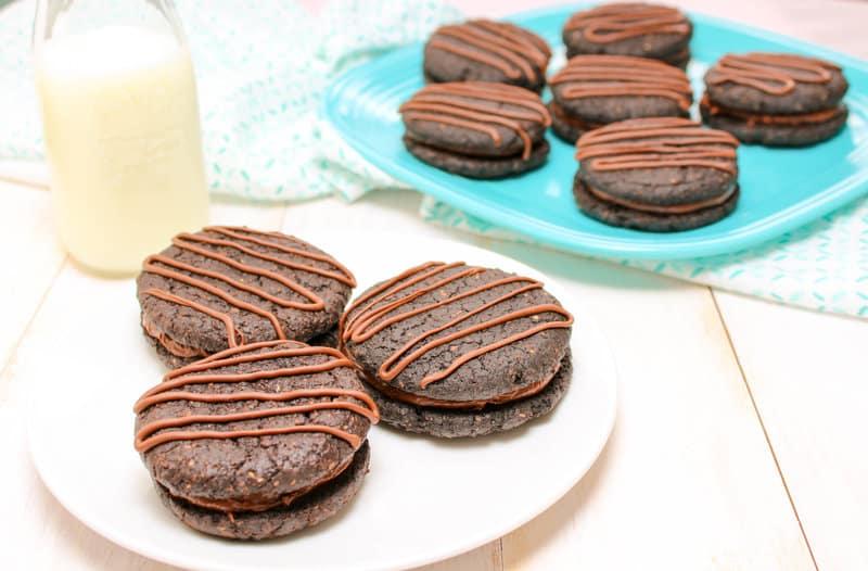 Healthy Chocolate Fudge Rounds Cookies