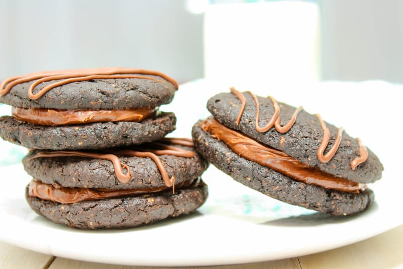Healthy Chocolate Fudge Rounds Cookies