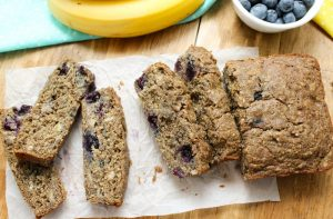 Sliced Blueberry Banana Bread