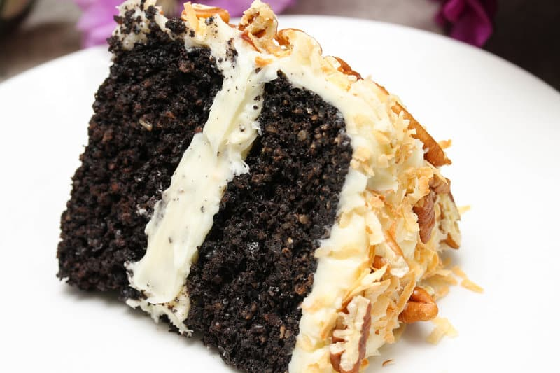 Healthy German Chocolate Cake - Vegan; Gluten Free