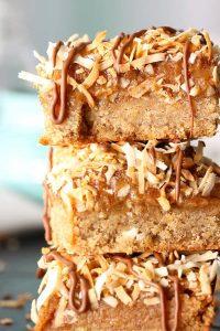 Samoa Cookie Bars - gluten free, vegan