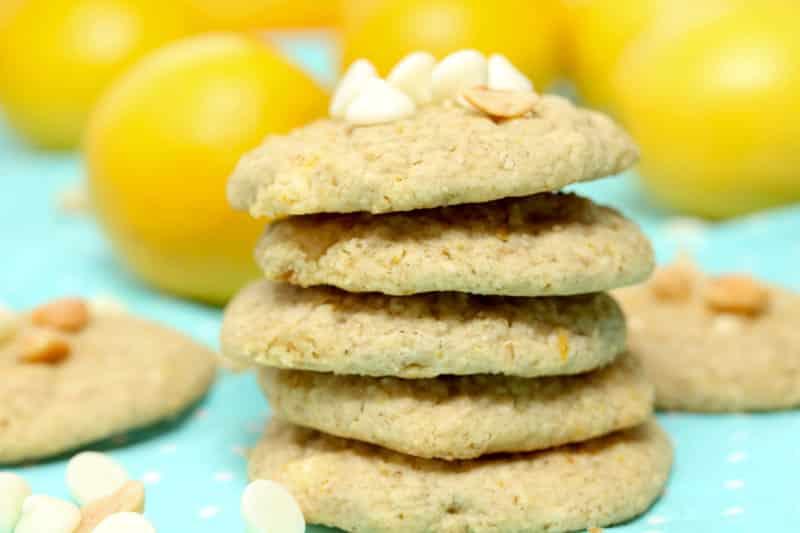 Lemon White Chocolate Macadamia Nut Cookies - Vegan, Gluten Free