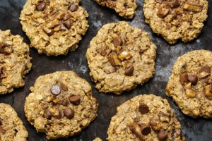 Toffee Oat Chocolate Chip Cookies - Vegan, Gluten Free, Low FODMAP