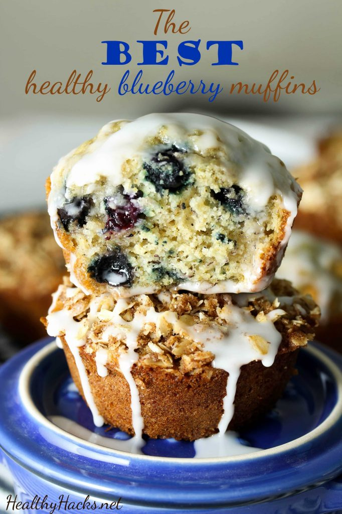 The BEST healthy blueberry muffins - vegan, gluten free; low fodmap