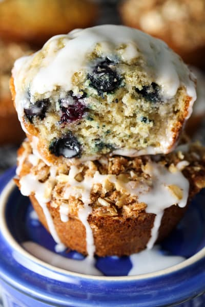 The Best Healthy Blueberry Muffin - gluten free; dairy free; low FODMAP