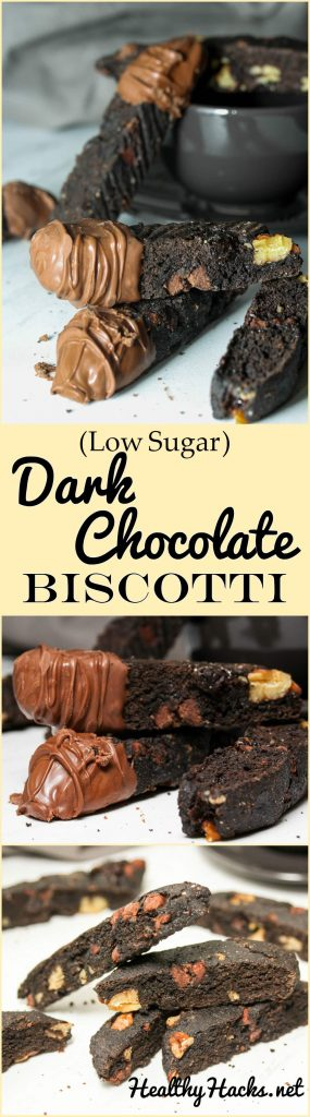 Dark Chocolate Biscotti - low sugar