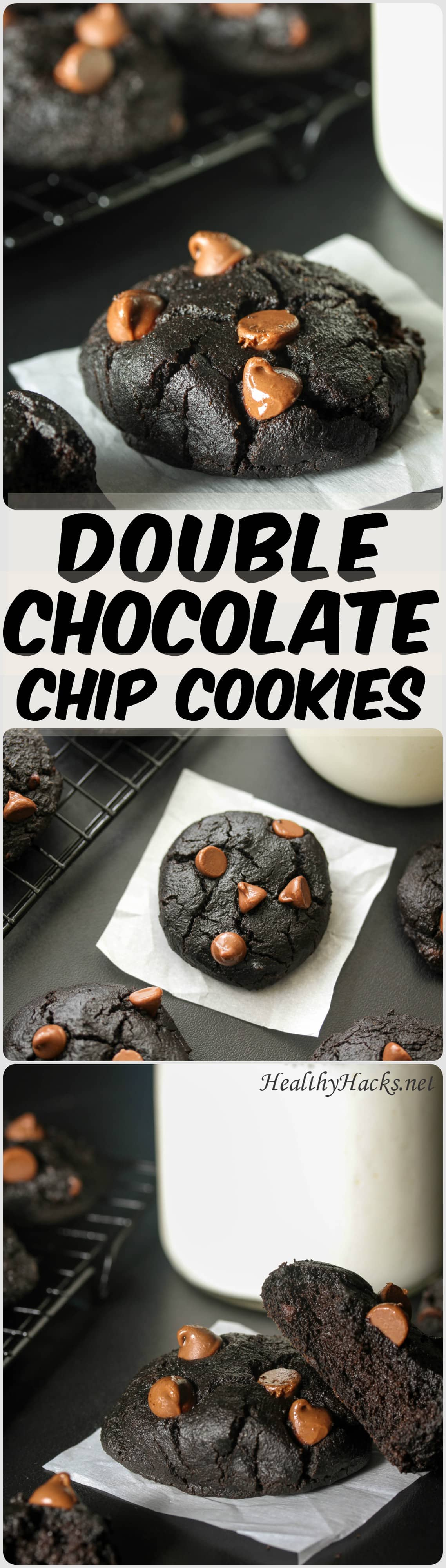 Double Chocolate Chip Cookies - high protein, low FODMAP
