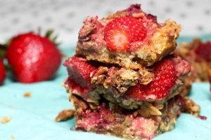 Protein Fruit Crumb Bars - high protein; vegan; gluten free