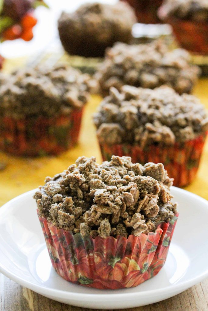 Pumpkin Maple Crumb Cake Muffins - Low FODMAP, Gluten Free, Dairy Free