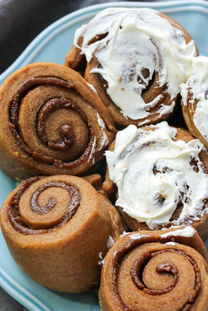 Whole Wheat Gingerbread Cinnamon Rolls