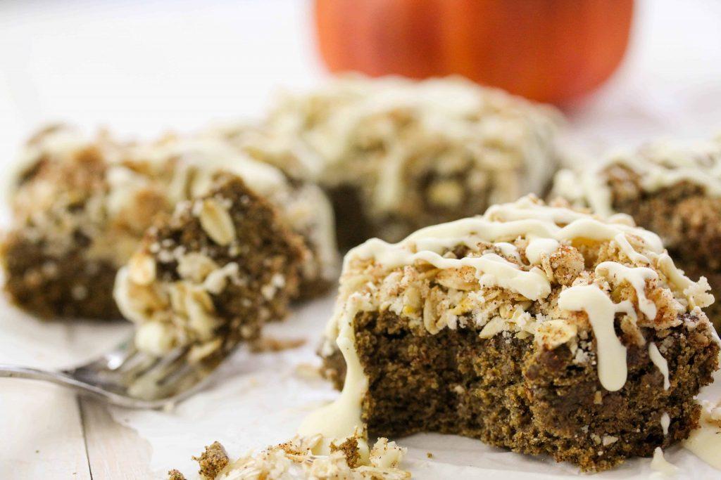 Pumpkin Crumb Coffee Cake - gluten free; vegan; low FODMAP