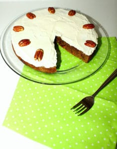 Healthy Vegan Carrot Cake with Cream Cheese Frosting