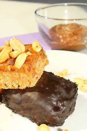 Healthy Chocolate Caramel Bars - grain free, low sugar. high protein chocolate caramel bars