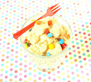 Vegan, gluten free, grain free chocolate chip cookie dough that is totally safe to eat!