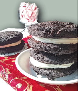 Healthy Peppermint Cream Whoopie Pies