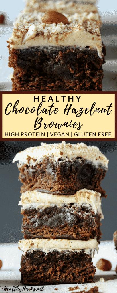 Healthy Chocolate Hazelnut Brownies
